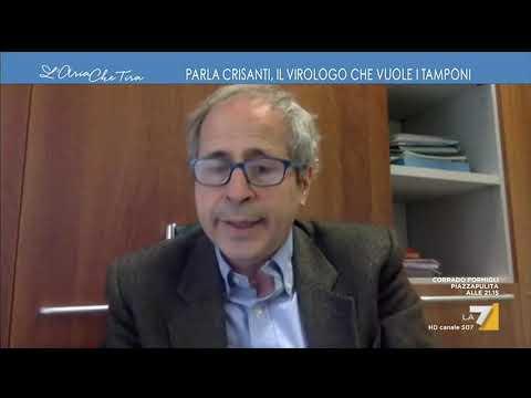 """Contagi e decessi, il virologo Andrea Crisanti: """"L'unica cosa certa è il numero dei defunti, ..."""