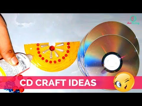 how-to-create-cd-wall-hanging-from-cd-craft-ideas-|-best-out-of-waste-ideas-|-tanis-creativity
