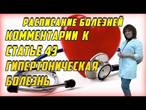 Комментарии к статье 43 ГИПЕРТОНИЧЕСКАЯ Болезнь [РАСПИСАНИЕ БОЛЕЗНЕЙ]