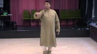 Kathak Lesson in Taal Jhaptaal By Guru Ashwani Nigam - Part 1