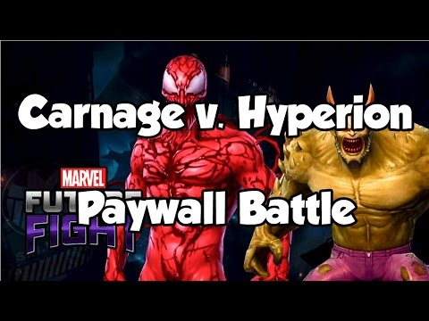 [Marvel Future Fight] Carnage v. Hyperion: Paywall Battle