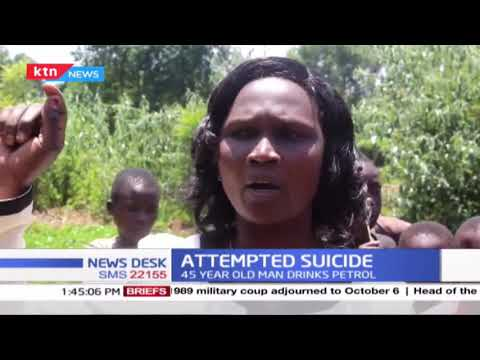 Attempted suicide: 45-year-old man drinks petrol