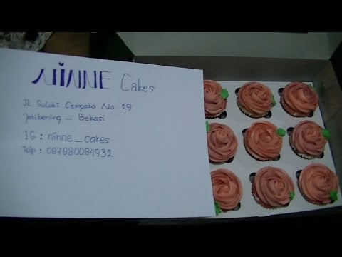 Miss Mary Culinary Food Review 125 Pink Rose Flower Cup Cake By Ninne Cakes BR TiVi 5255