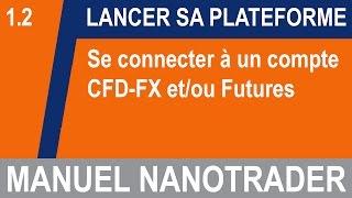 Connexion à un compte CFD-FX et/ou Futures