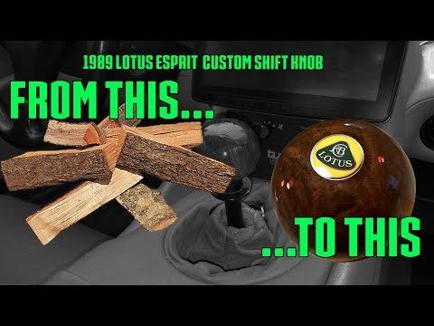 1989 Lotus Esprit I made a wooden shifter knob! Part 9