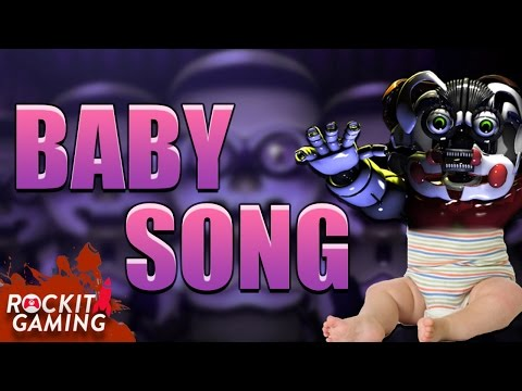 """FNAF Sister Location Gameplay JUMPSCARE Rap Song   """"Baby""""   Rockit Gaming Record"""