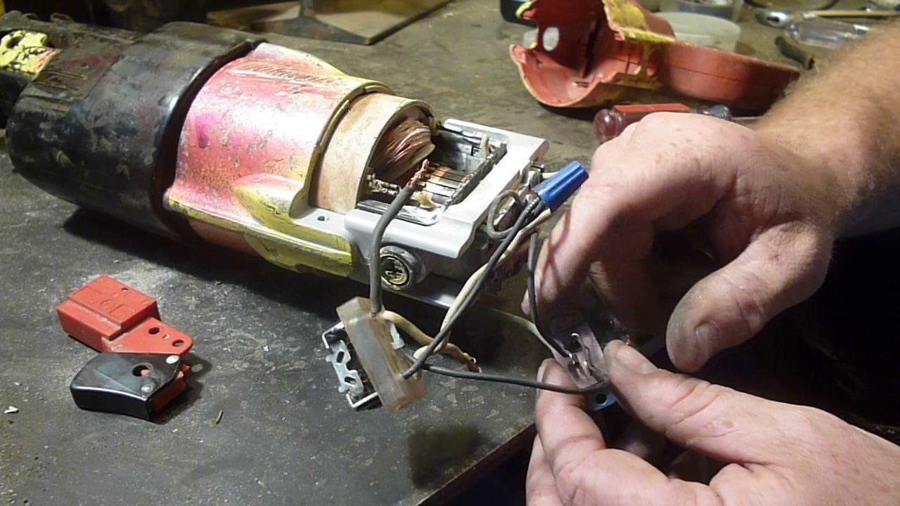 milwaukee sawzall trigger switch fix [ 1280 x 720 Pixel ]