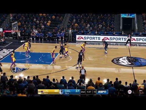 Nba Live 19 Lakers Vs Mavericks Ps4 Pro Live Stream
