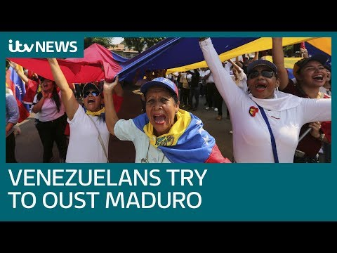 Thousands of Venezuelans march in support of opposition leader | ITV News
