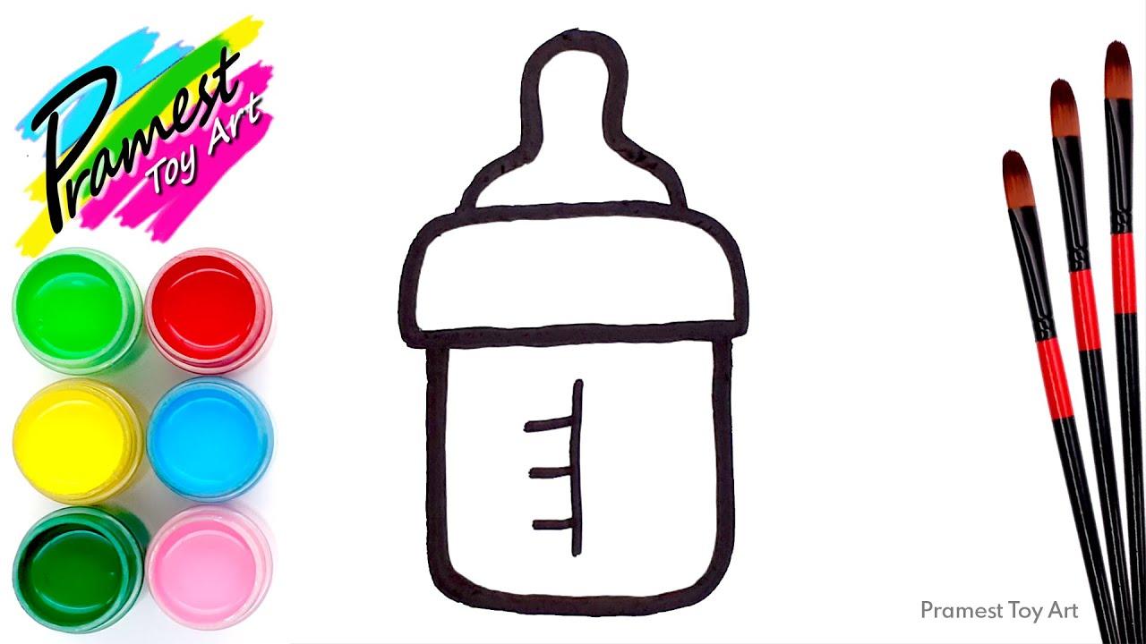 Belajar Menggambar Dan Mewarnai Botol Susu Bayi Untuk Anak