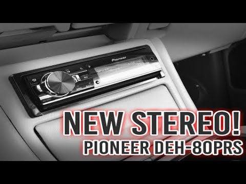 new stereo install for the yukon pioneer deh 80prs. Black Bedroom Furniture Sets. Home Design Ideas