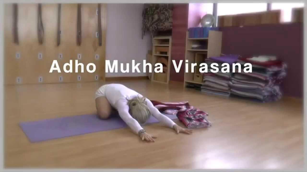Carrie Owerko Adho Mukha Virasana Iyengar Yoga Youtube