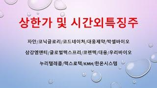 [시간외특징] 자안/코닉글로리/코드네이처/대웅제약/박셀…