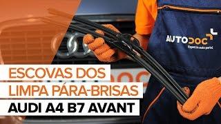 Instalação Escovas de para brisa traseiro e dianteiro AUDI A4: vídeo manual
