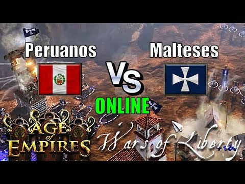 Perú vs Malta en Cave - Age of Empires 3 Wars of Liberty Online