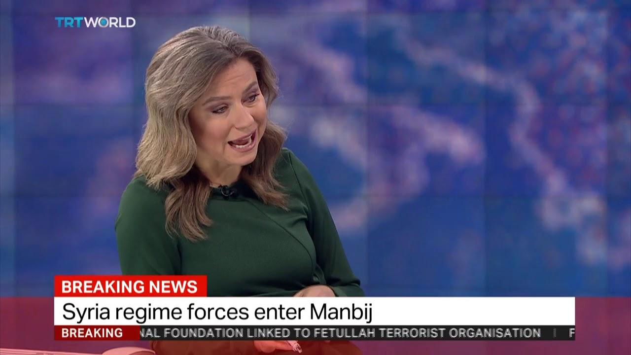 TRT World's Yusuf Erim talks on Syrian regime forces entering Manbij #Regime