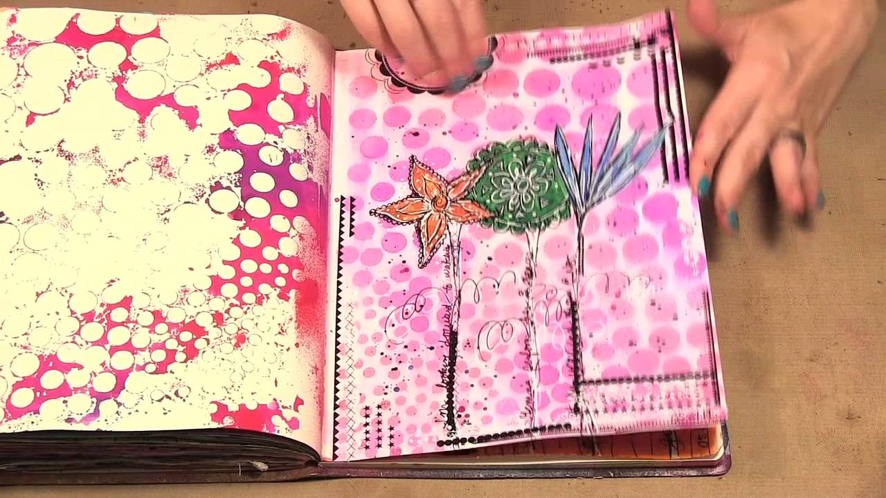 Step by Step Art Journaling Online Class - YouTube
