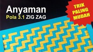 Gambar cover CARA MUDAH membuat anyaman kertas sederhana dengan pola 3.1-ZIG ZAG