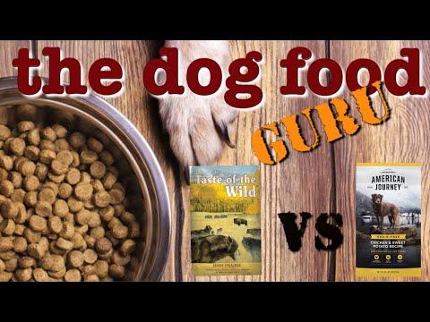 American Journey vs Taste of the Wild dog food mashup