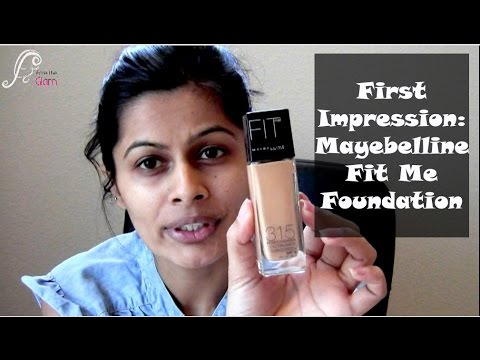 First Impression Review : Mayebelline Fit Me Foundation | Indian Makeup Guru