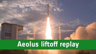 Aeolus liftoff replay