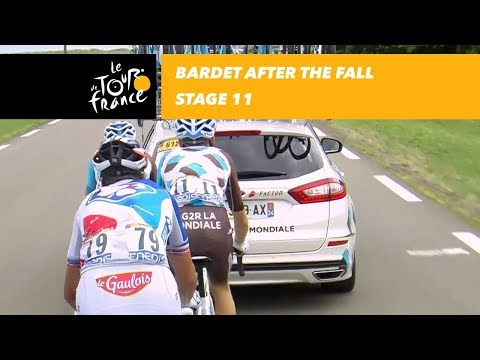 Bardet after the fall - Stage 11 - Tour de France 2017
