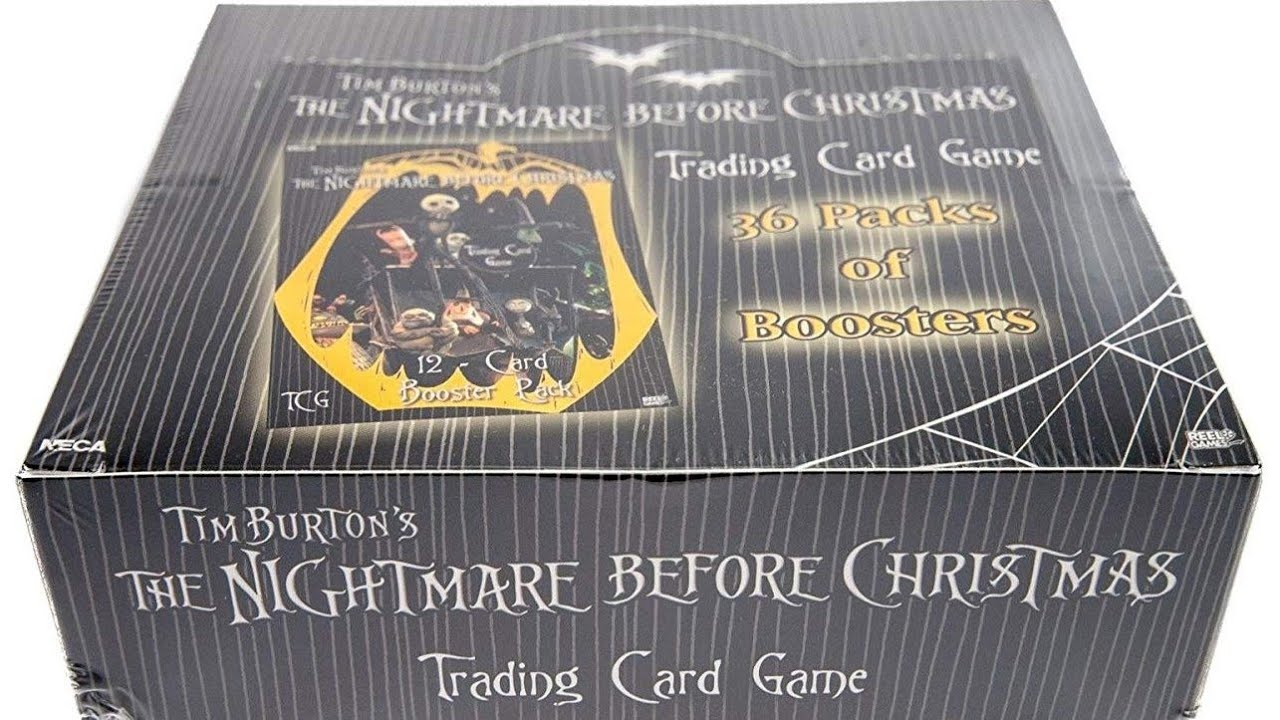 Unboxing the Nightmare Before Christmas TCG Booster Box - YouTube