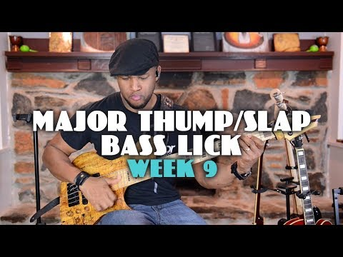 MAJOR THUMP/SLAP BASS LICK - JERMAINE MORGAN TV - LICK OF THE WEEK 9