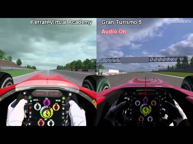 Ferrari Virtual Academy vs Gran Turismo 5 - Ferrari F10 at Nurburgring
