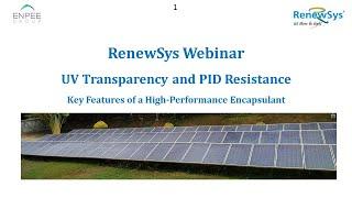 RenewSys Webinar - Key Features of a high performance EVA