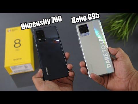 Realme 8 5G Vs Realme 8 4G Comparison & SpeedTest (Dimensity 700 Vs Helio G95)