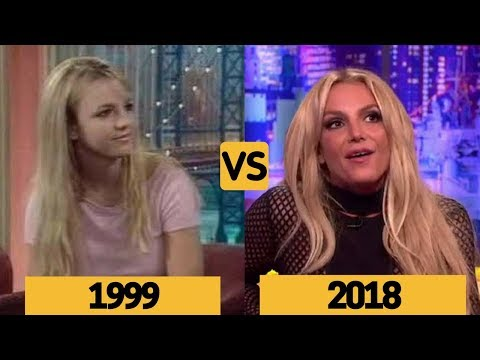 Britney Spears Interview Comparison and Evolution From Age 18 to 36 young to old
