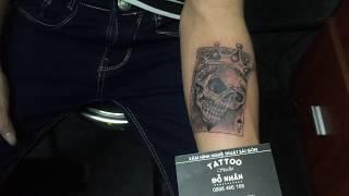 Hình Xăm Đầu Lâu tại Đỗ Nhân Tatttoo