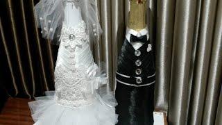 Бутылка своими руками. Невеста, часть 4.