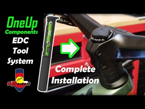OneUP Components EDC Tool System Install In A 2019 Scott Ransom W/Integrated Stem Syncros Handlebar