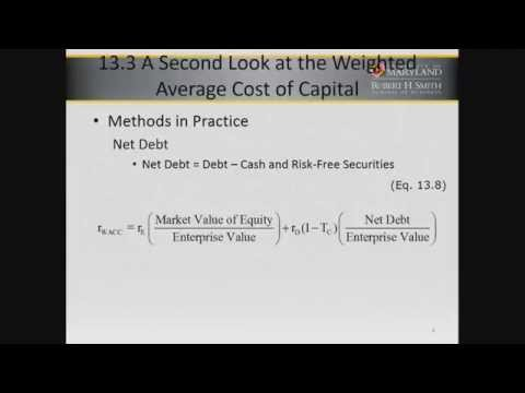Cost of Capital  WACC in Practice