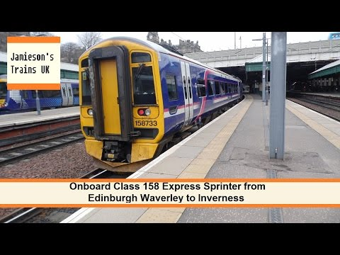 Onboard Class 158 Express Sprinter from Edinburgh Waverley to Inverness