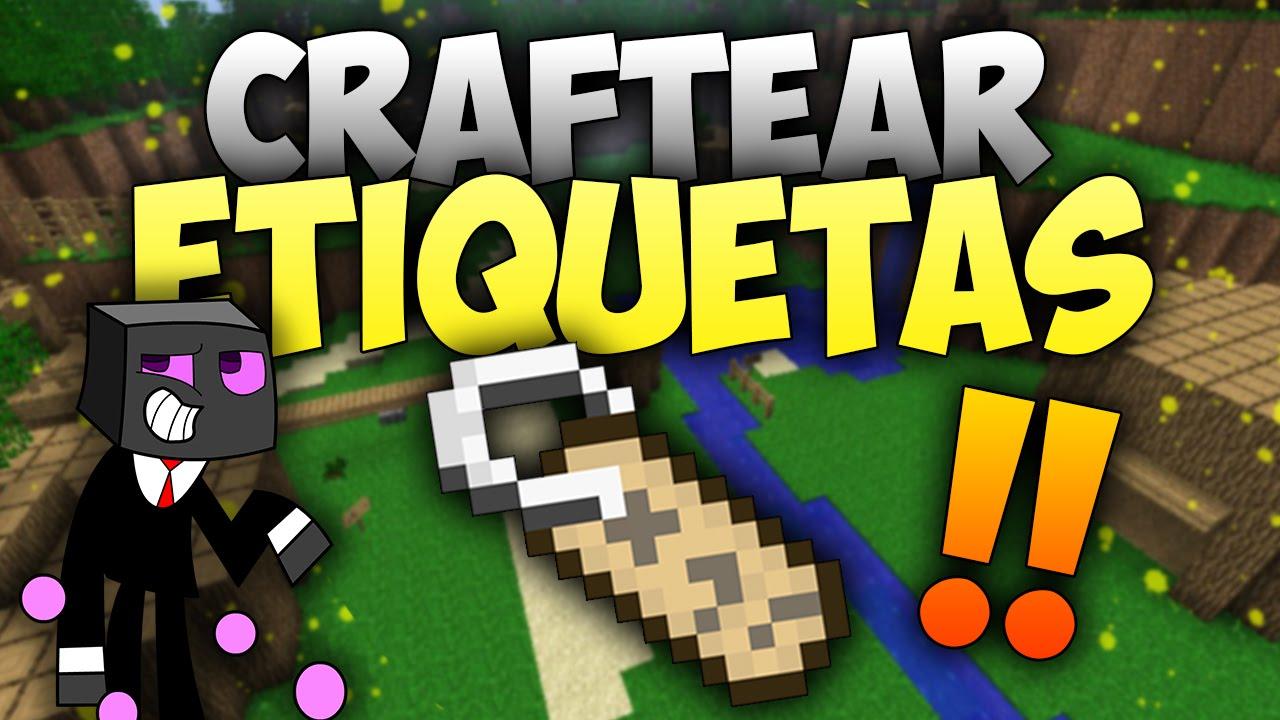 craftear etiquetas en minecraft 1 10 2
