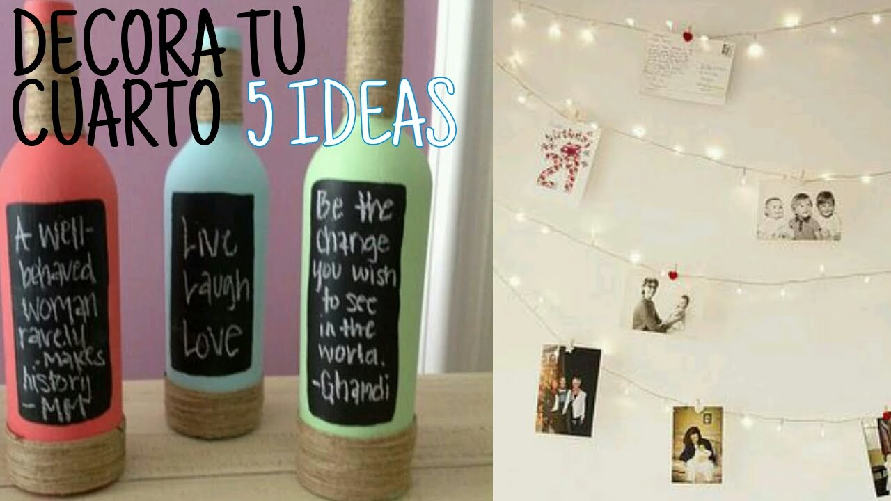 5 ideas para decorar tu cuarto sebastian villalobos youtube for Todo ideas originales para decorar