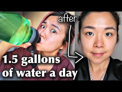 What Drinking 1.5 GALLONS OF WATER A DAY FOR 2 WEEKS did to me