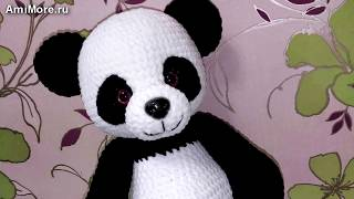 Амигуруми: схема Большая панда. Игрушки вязаные крючком - Free crochet patterns.
