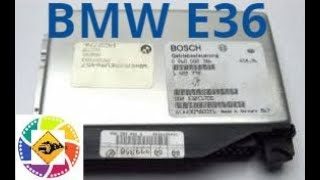 Снятие блок управления компьютера BMW E36  Removing the side of the computer BMW E36