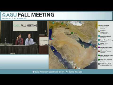 AGU 2012 Fall Meeting: Climate Change and Civilizations Press Conference