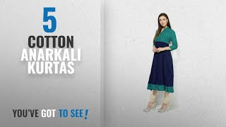 Top 10 Cotton Anarkali Kurtas [2018]: AnjuShree Choice Women Stitched Cotton Anarkali Kurti Kurta