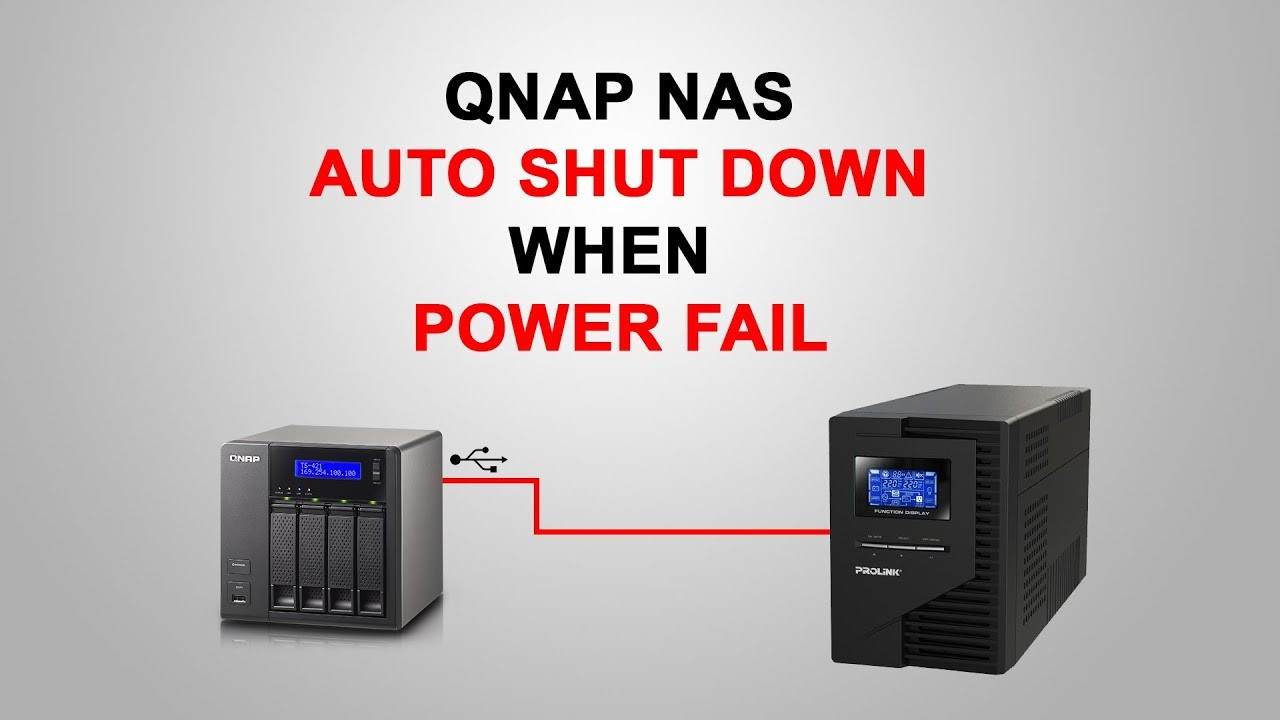 Qnap NAS auto shutdown when power down
