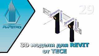 3D модели TECE для REVIT