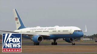 Air Force One stops in Alaska en route to G20 summit in Japan Video