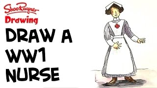 How to Draw a WW1 Nurse