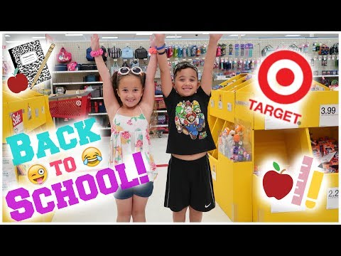 🍎Back To School Shopping At TARGET!! 📝🎯😋|Lala & DayDay|