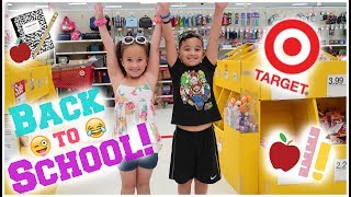 🍎Back To School Shopping At TARGET!! 📝🎯😋|Lala & DayDay|